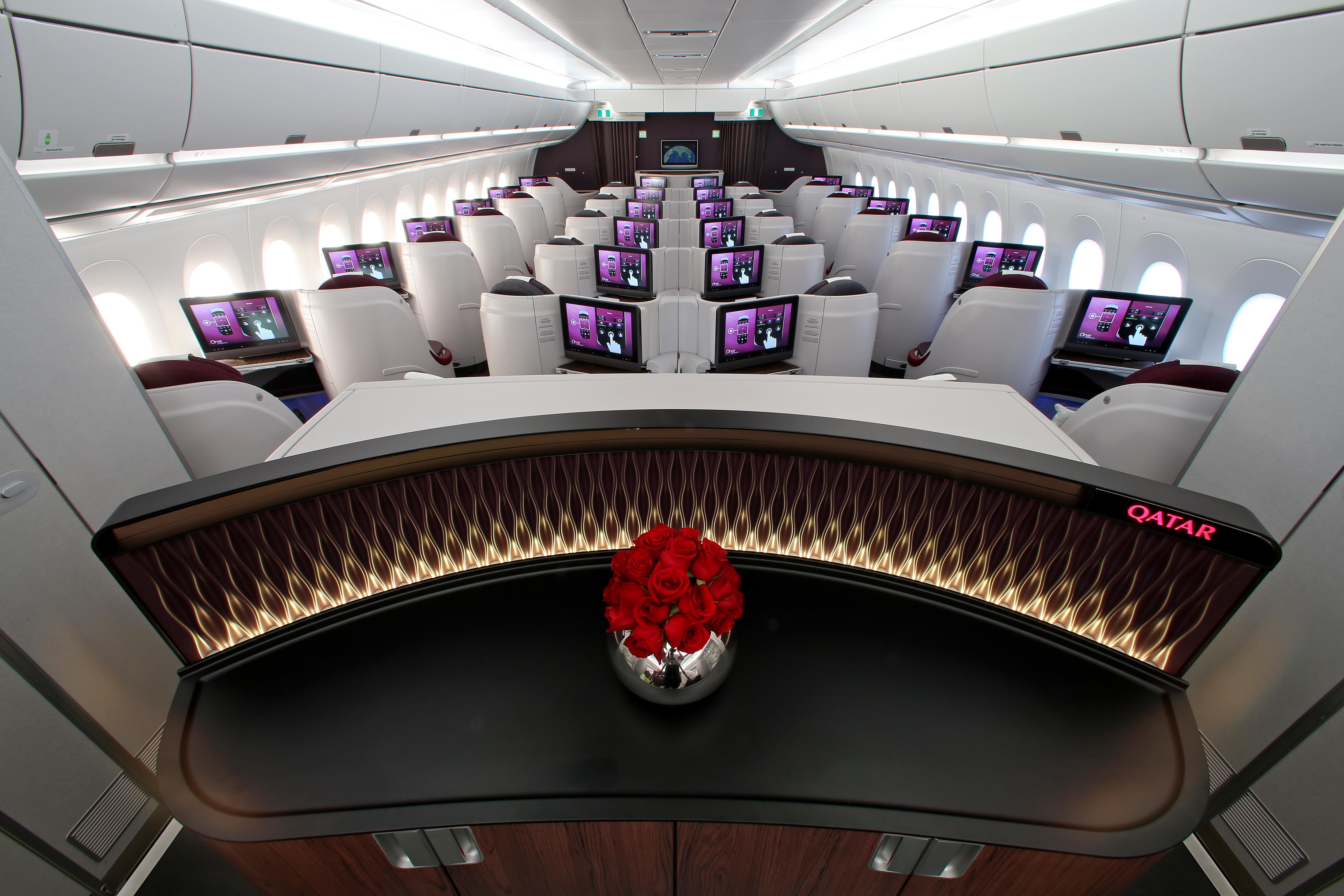 Picture of the Business Class aboard the Qatar Airways Airbus A350 - Picture by Qatar Airways.
