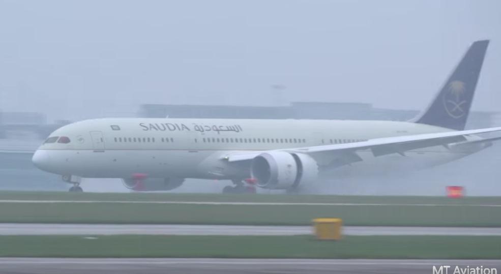VIDEO Saudi Airlines Boeing 787-9 inaugural flight to