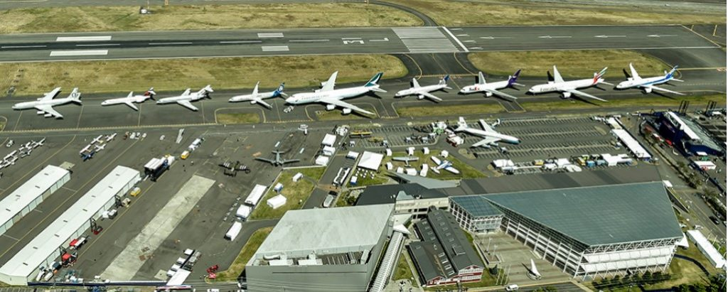 Boeing 7-Series lineup on tarmac Photo ©Boeing Commercial Division