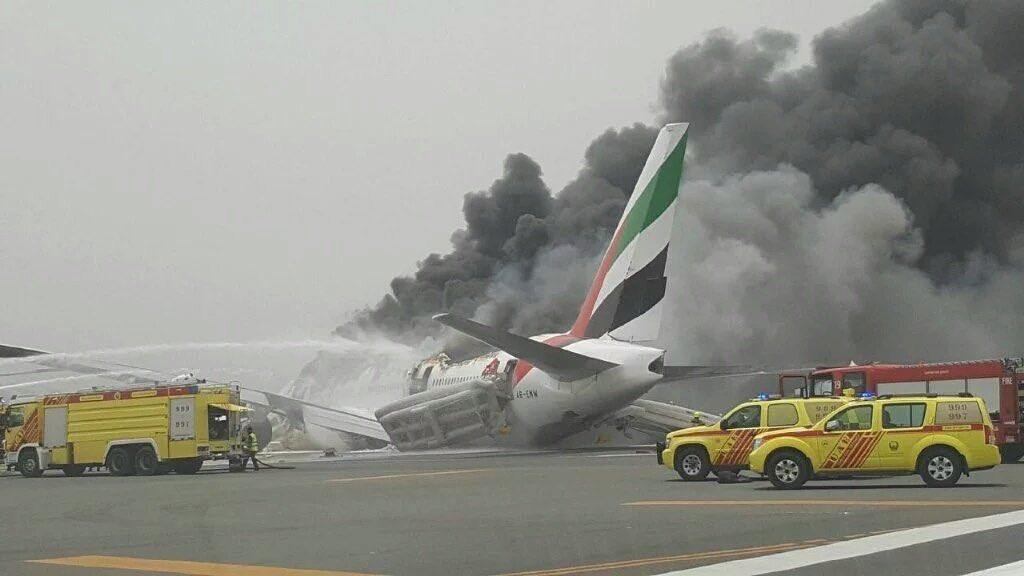 Breaking Emirates 777 300 Flight Ek521 Crash Lands In
