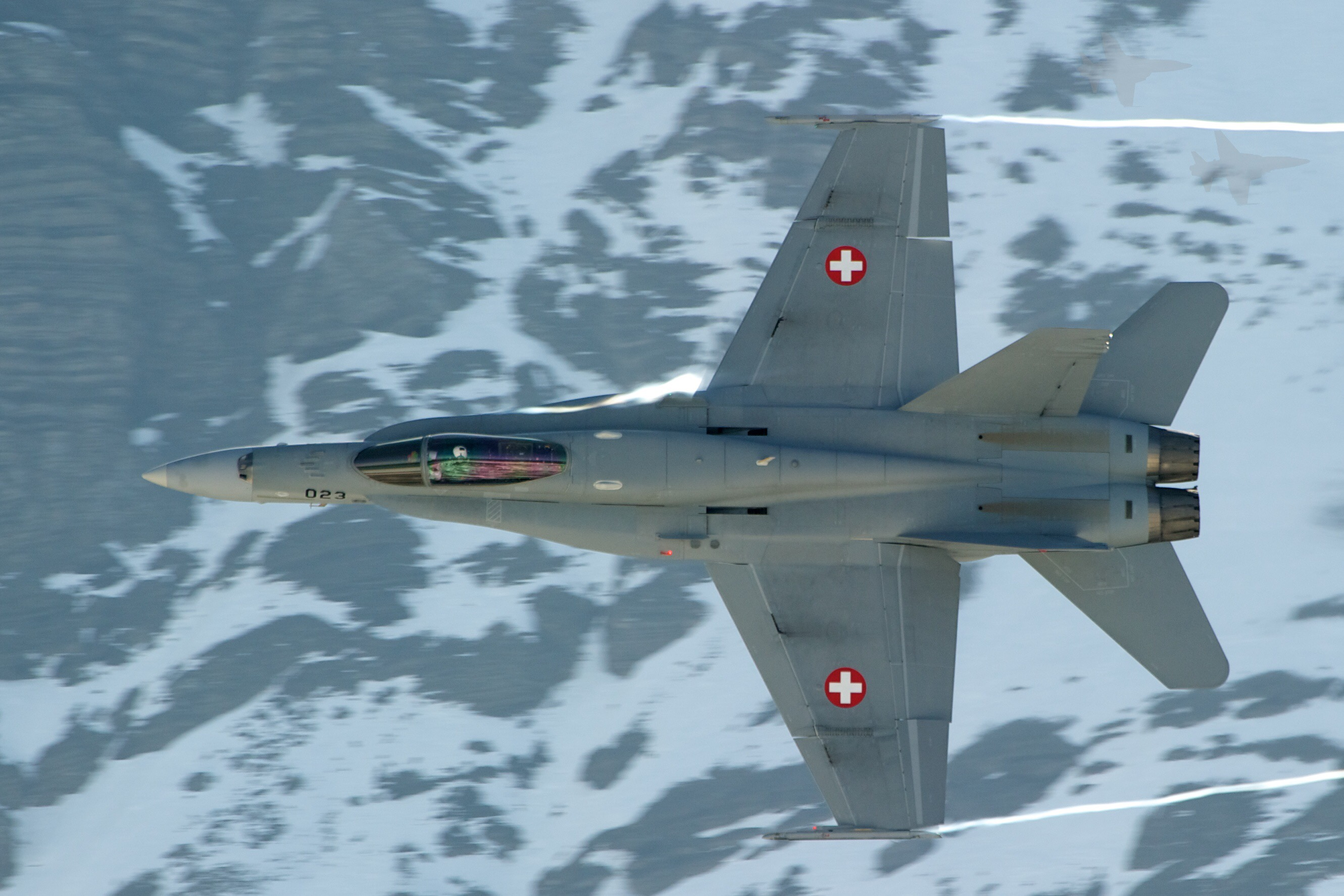BREAKING Swiss Airforce FA 18 is missing in the Alps, no