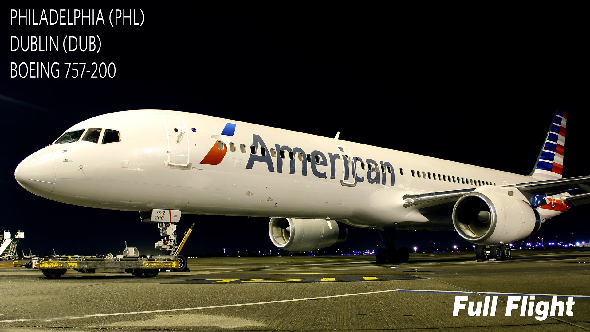 Video American Airlines Aa722 Full Flight From