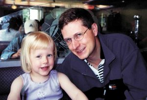 Sten Molin with his niece Casey Parsons in 2000. Molin, the co-pilot of American Airlines Flight 587 was killed when the plane crashed in Queens, N.Y., on take-off from Kennedy airport on Nov 12. Molin had lived in Greenwich.
