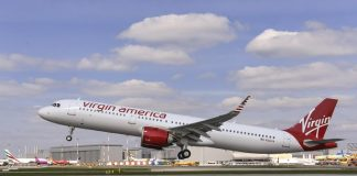 Live airspace for Virgin america a321neo cabin