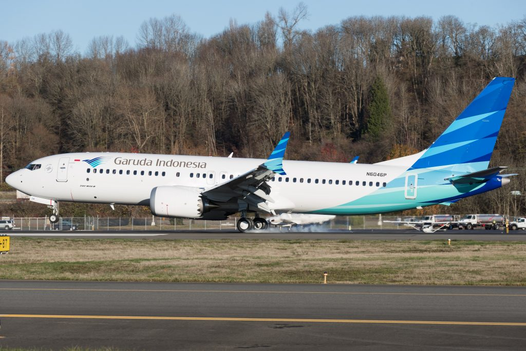 Garuda Indonesia Boeing 737 MAX 8 leaves Seattle - Aviation news and