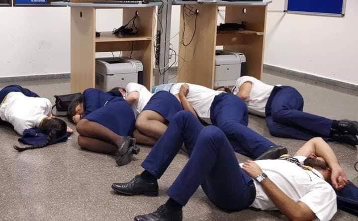 airlive.net - ALERT A Ryanair crew was forced to sleep on briefing room's floor in Malaga Airport