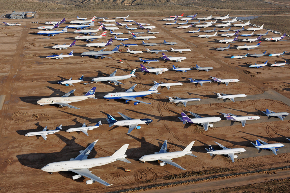 Several Southwest Boeing 737max Were Sent To The Mojave