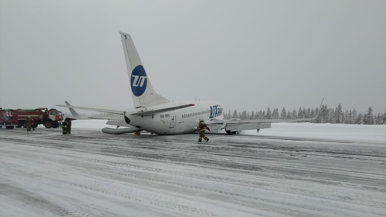 Breaking A Utair Boeing 737 Has Crash Landed At Usinsk In Northern Russia Airlive